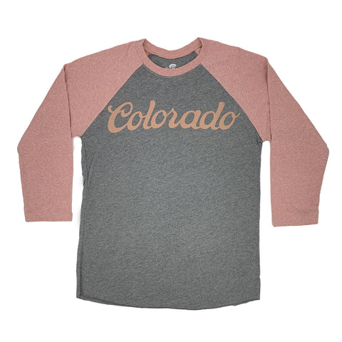 Pink and Grey Colorado Koolaid Baseball Tee