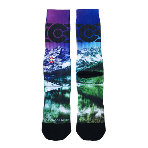 Purple Maroon Bells Socks- Unisex