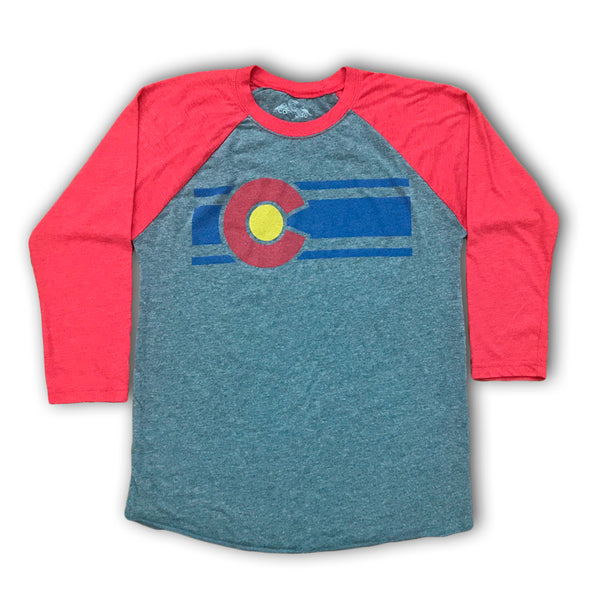 Red and Gray Colorado Baseball Tee