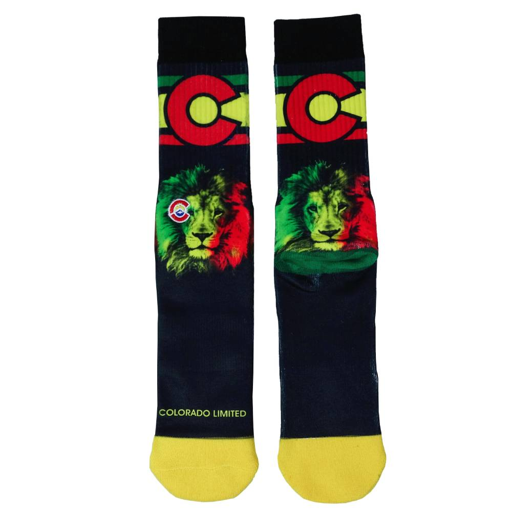Rasta Lion Colorado Socks - Unisex