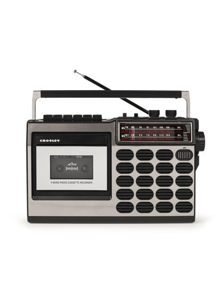 Crosley CT100 Cassette Player - Silver