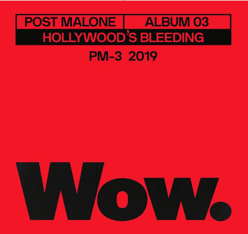 Post Malone * Wow. 3 inch Vinyl Record