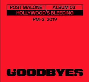 Post Malone * Goodbyes 3 inch Vinyl Record