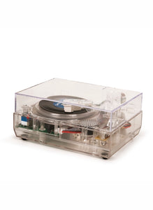 Crosley Mini 8ban (3 inch) Turntable - Clear/See Through, Post Malone Bundle RSD 2020