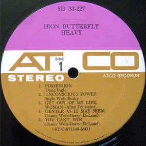 Iron Butterfly ‎* Heavy