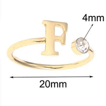 Load image into Gallery viewer, Custom Initial Birthstone Ring