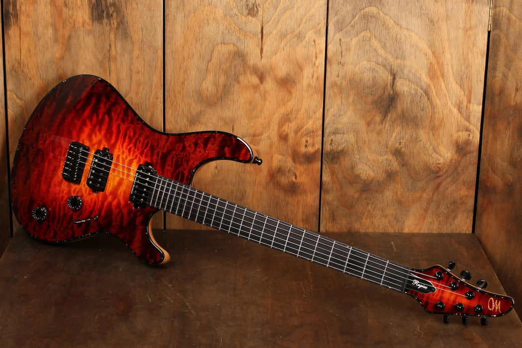 Mayones Regius 6 QM (Quilted Maple) Lava Burst