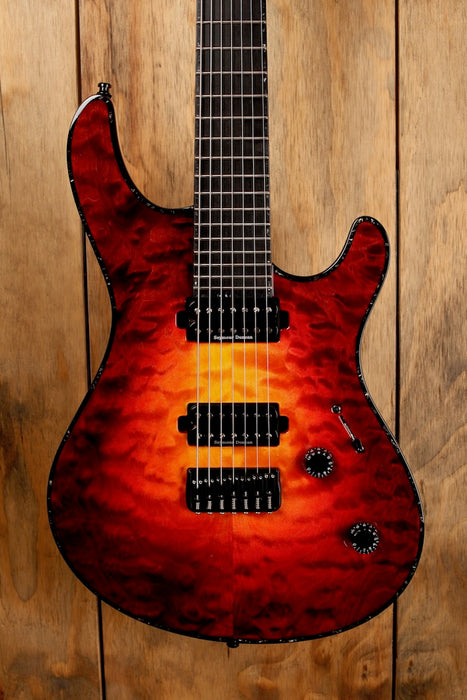 Mayones Regius 7 QM (Quilted Maple) Lava Burst