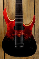 Mayones Duvell 7 Elite Black Dirty Red Horizon