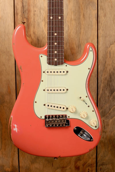 Fender Custom Shop 1960 Stratocaster Relic Custom Built Limited Edition Faded/Aged Tahitian Coral