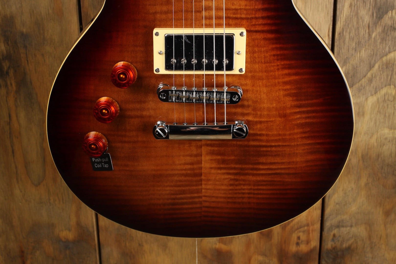 ESP LTD EC-256FM Dark Brown Sunburst Lefty