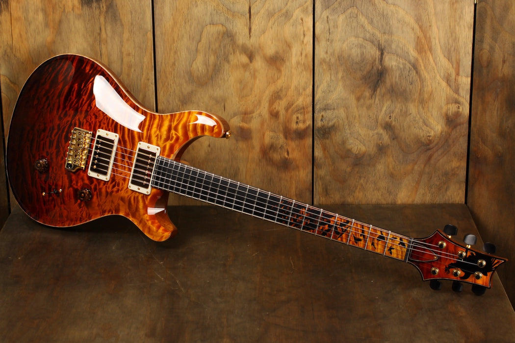 PRS Private Stock Custom 24 #7971 Electric Tiger Fade w/ Birds of a Feather Inlay