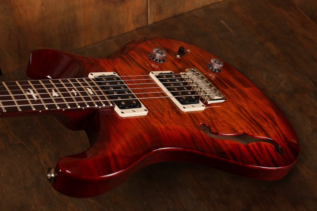 PRS S2 Custom 22 Semi-Hollow Dark Cherry Sunburst