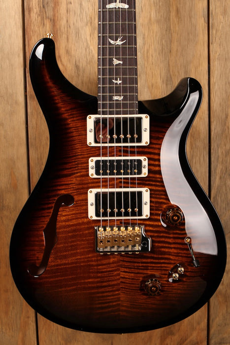 PRS Special 22 Semi-Hollow Limited Black Gold Burst 10-Top
