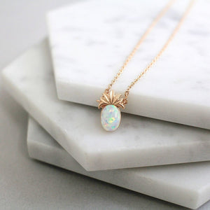Opal pineapple necklace - tiny - Uli Uli Jewelry