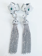 Panther crystal white earrings - Uli Uli Jewelry