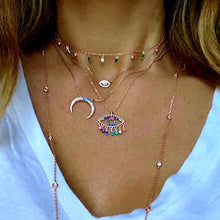 Rainbow CZ Luna necklace