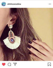 Hamsa love earrings