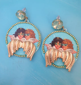 Angel cool earrings