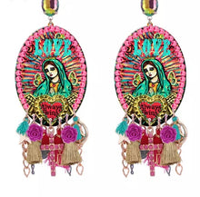 All over Mary earrings