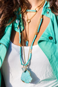 Set  Turquoise - 4 necklaces layered for 1 price like photo 5 on our homepage - Uli Uli Jewelry
