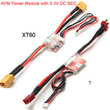High Quality APM 2.5 2.6 2.8 Pixhawk Power Module 30V 90A With 5.3V DC BEC Available with T or XT60 For RC Helicopter Part