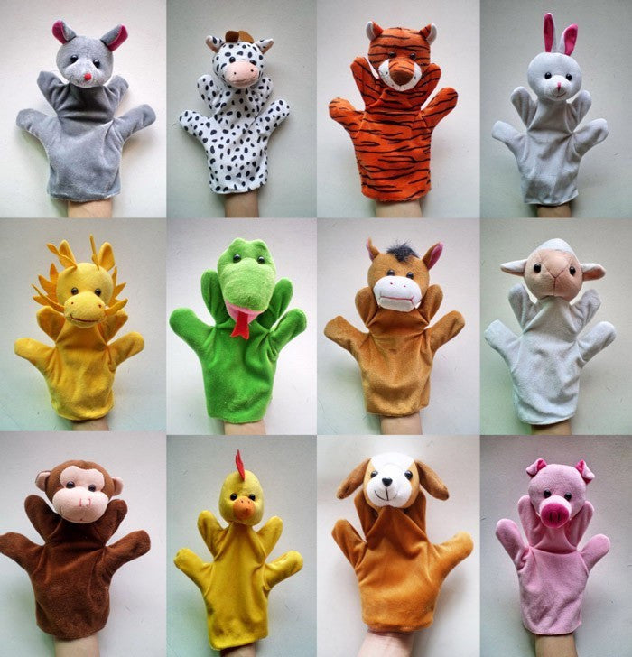 12Pcs/Lot Funny Hand Puppets For Kids Plush Hand Puppets For Sale