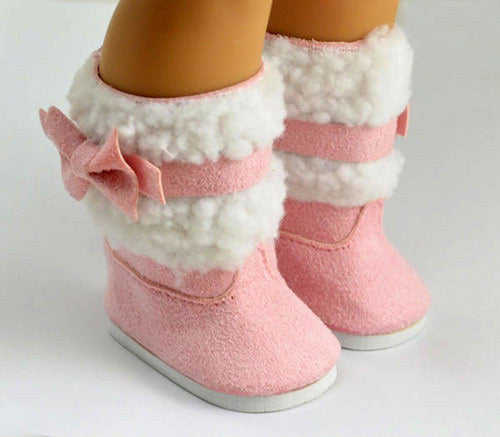 "Doll clothes,doll accessories, lovely Pink doll shoes for 18"" inch"