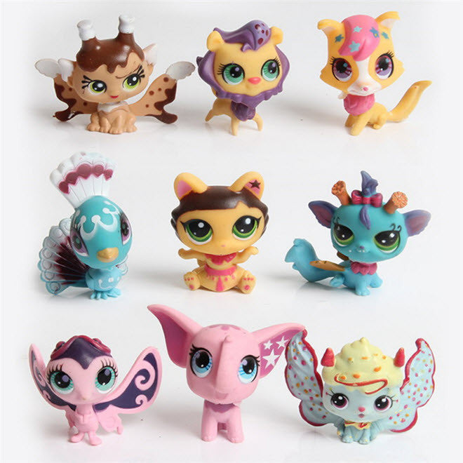 1pcs littlest pet shop doll action toys figures pvc puppets kids small