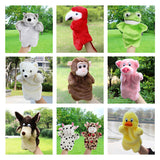 Animal Hand Puppet Baby Plush Toys Parrot Eagle Duck Wolf Doll Baby Toy Brinquedo Marionetes Fantoche