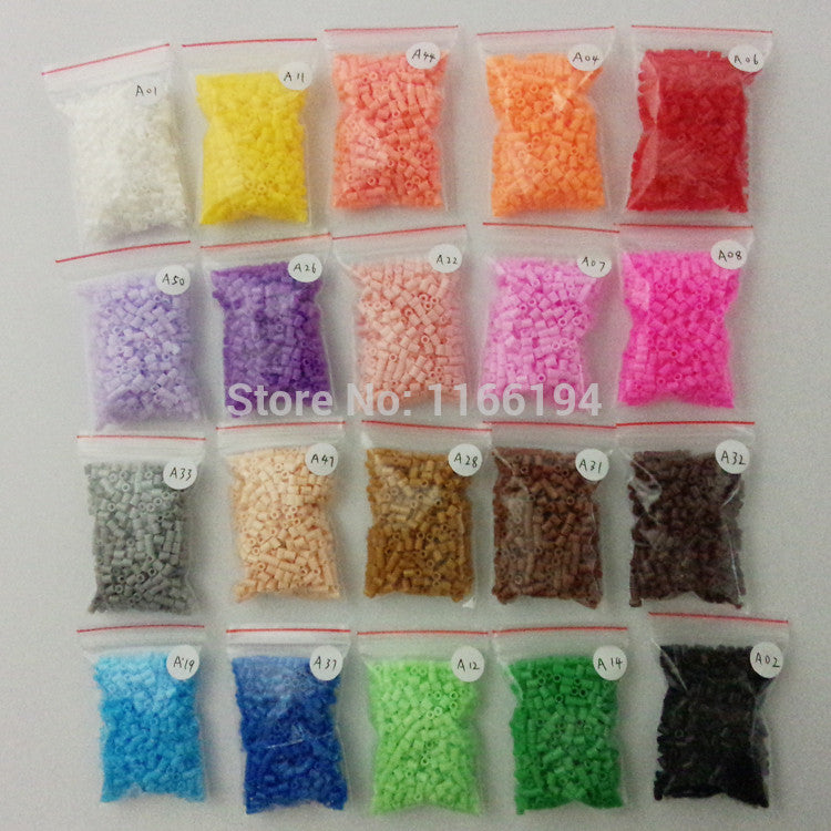 2.6mm mini hama beads 20 bags 500pcs/bag 100% quality guarantee perler