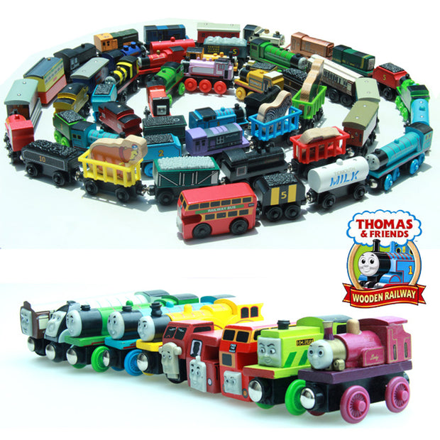 10PCS  Thomas and His Friends Wooden Magnetic Trains Toy Model Great