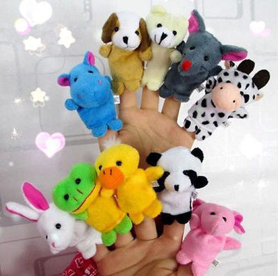 1PCS Farm Zoo Animal Finger Puppets Toys Boys Girls Babys Party Bag