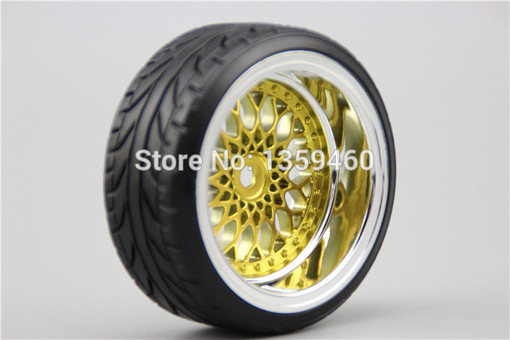 4pcs RC Hard Pattern Drift  Tires Tyre Wheel Rim Y12CG  3/6/9mm offset