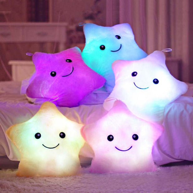 Hot Colorful Cute Luminous Pillow Christmas Toy Led Light Plush Pillow