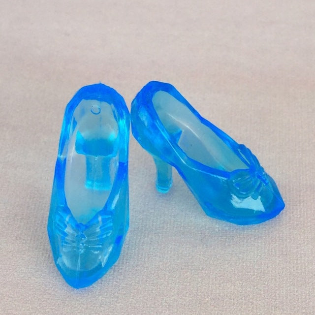 10Pairs/lot Imitation Fairy Tale Crystal Shoes For CINDERELLA