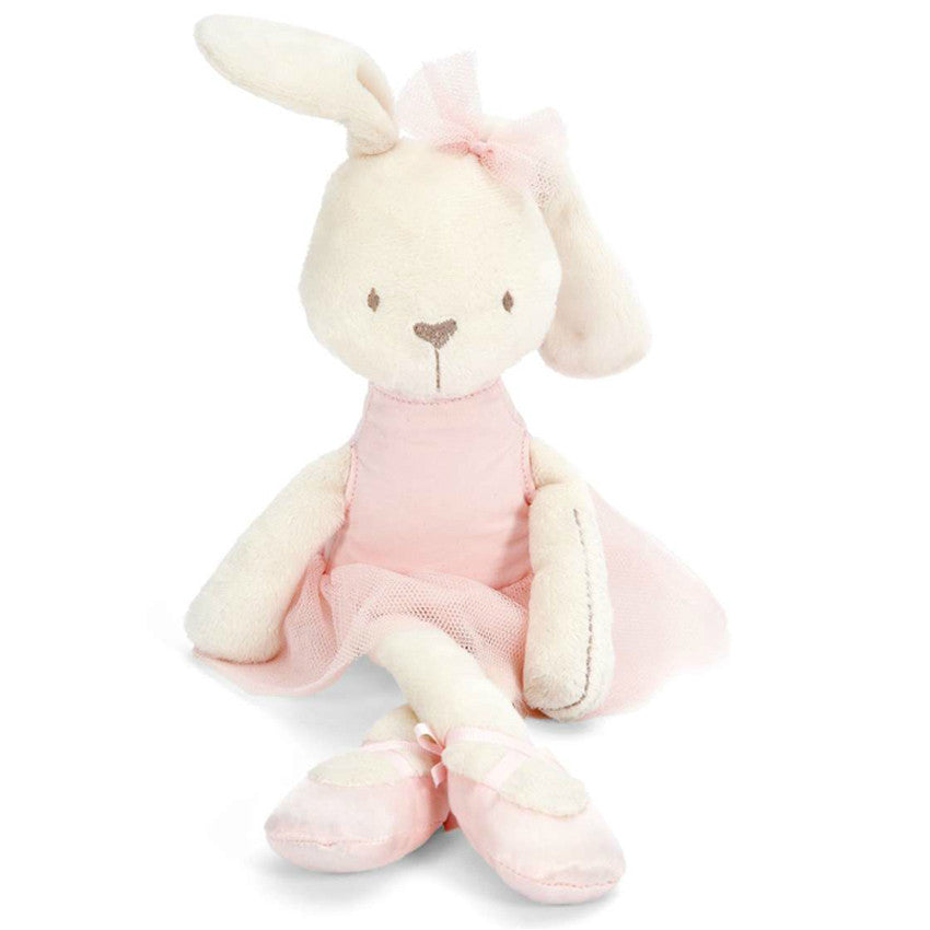 1pcs 42cm Cute Rabbit with Pink Dress Baby Plush Toy Soft Ballet
