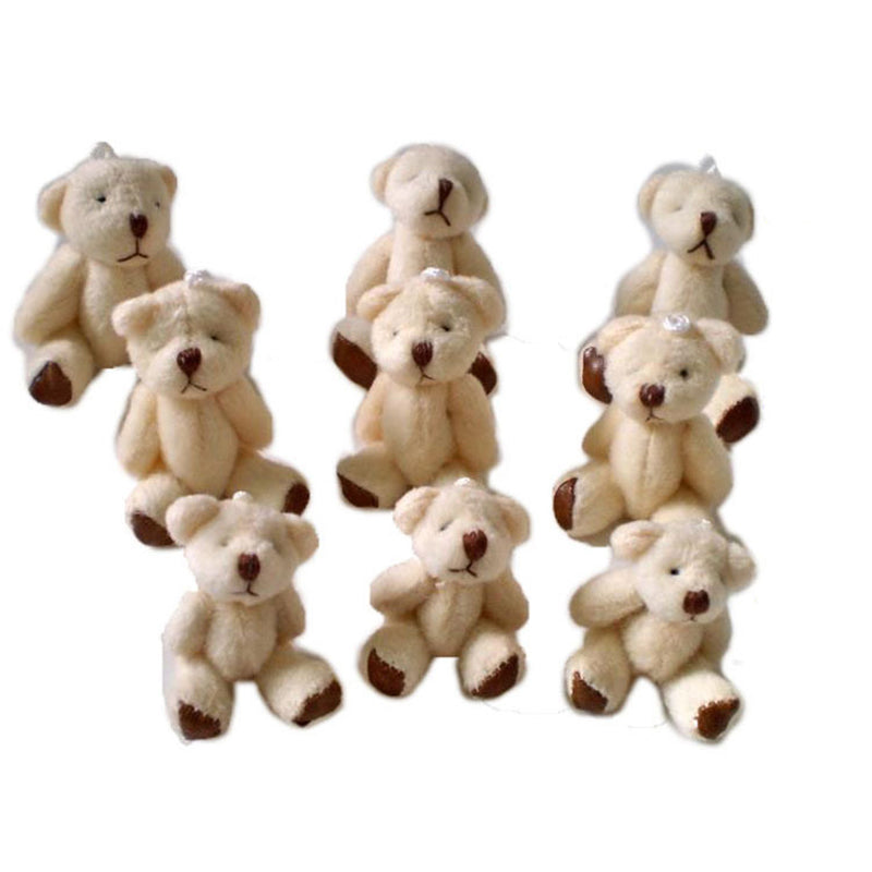 10PCS/lot Mini Joint Bear Plush toys Wedding gifts Kids Cartoon toys