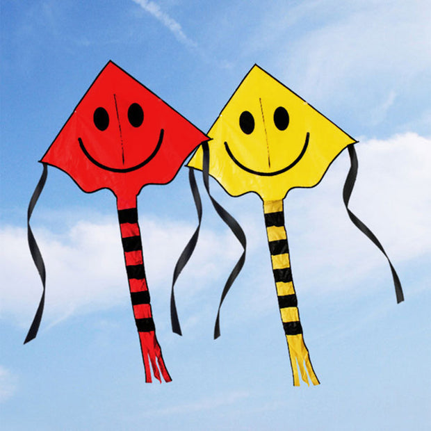 Smiling Face Stunt Kite Cute Cartoon Kites For Kids Outdoor Fun Sports