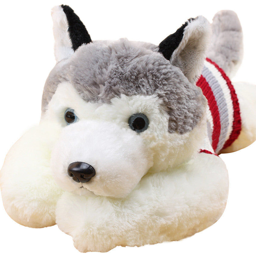 1pcs size 40 cm Cartoon gray sweater husky dog plush toy child cloth
