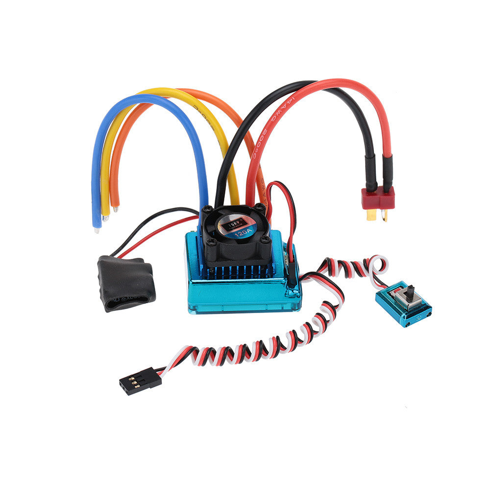 120A Sensored Brushless ESC Speed Controller for 1/8 1/10 1/12 Car