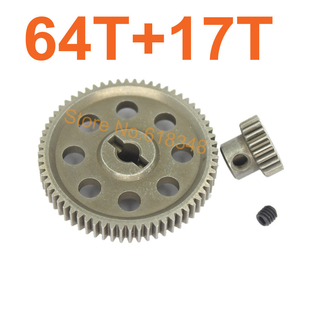 11184 Diff Differential Main Metal Spur Gear 64T &11119 Motor Gear 17T