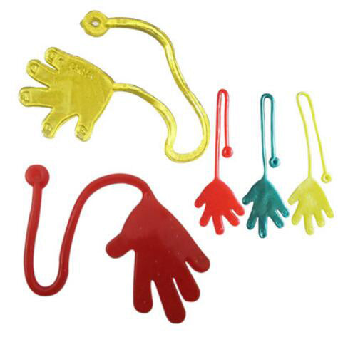 10PCS/ Lot Elastic Retractable Palm Stress Toys Climbing Palm Baby