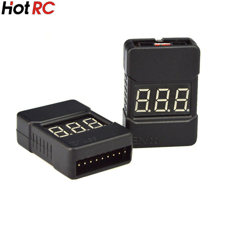 1pcs HotRc BX100 1-8S Lipo Battery Voltage Tester/ Low Voltage Buzzer Alarm/ Battery Voltage Checker with Dual Speakers