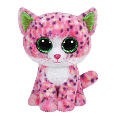 In Stock Original Ty Beanie Boos Big Eyed Stuffed Animal Sophie - pink cat Plush Doll Kids Toy 6'' 15cm Birthday Gift