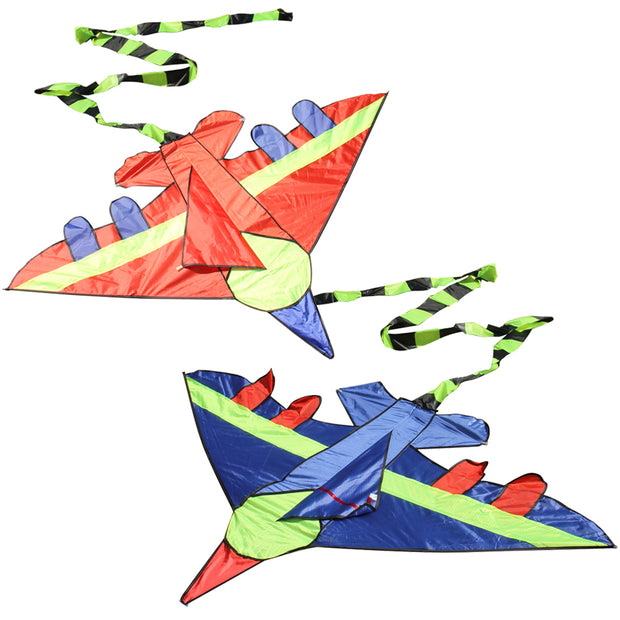 Kids Flying Kite Novelty Cartoon Design Airplane Shape Kites with Long