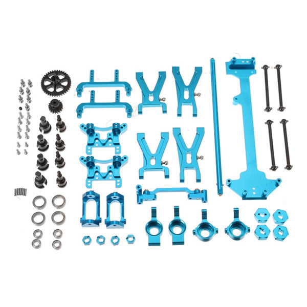 Wltoys A949 A959 A969 A979 K929 1/18 RC Car Spare Parts Complete Set Silver Metal Upgrade Parts