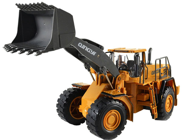 RC Bulldozer Truck 2.4G Wheeled Loading Shovel Large Remote Controlled