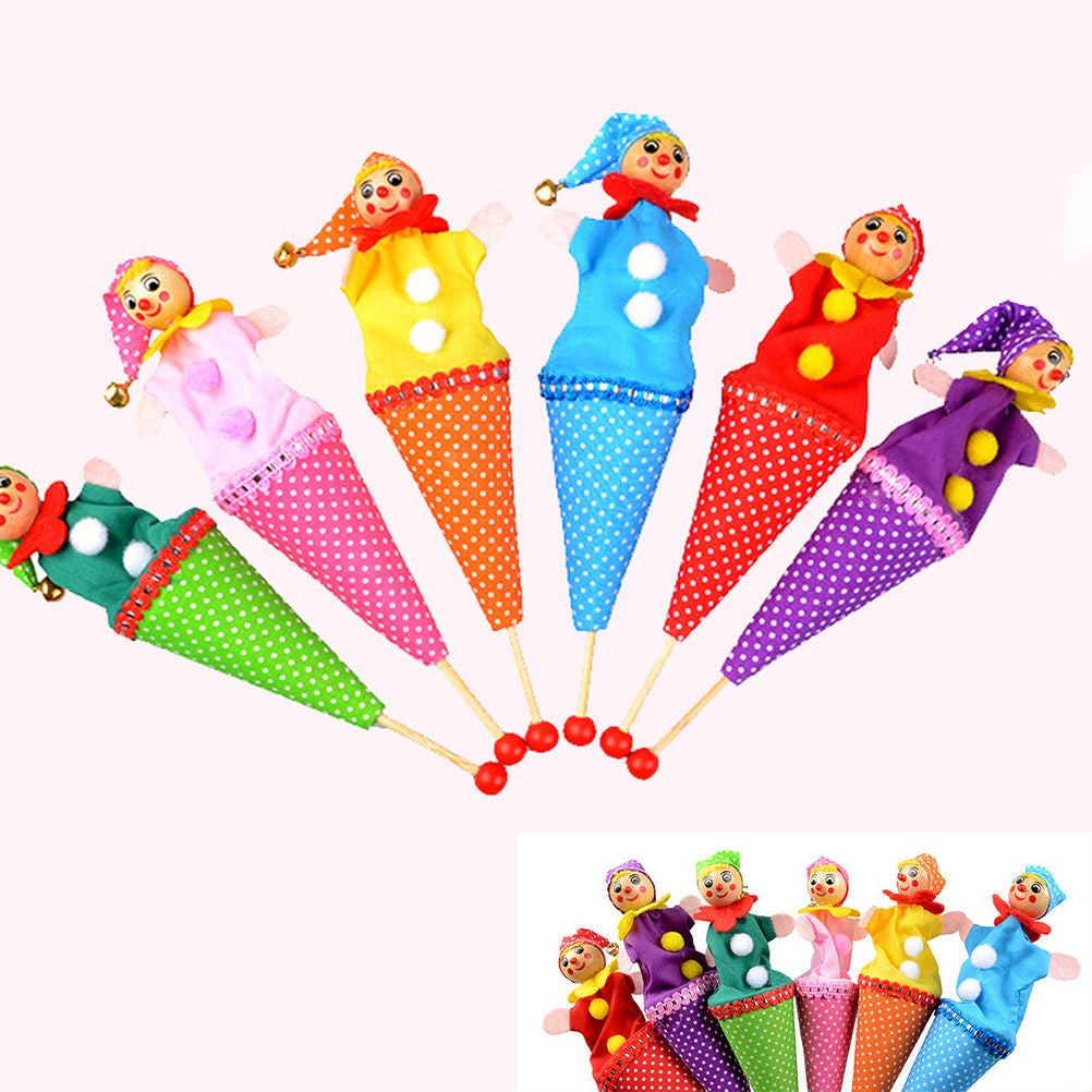 1Pcs Random Style Bell Hide Seek Pop Up Telescopic Baby Kids