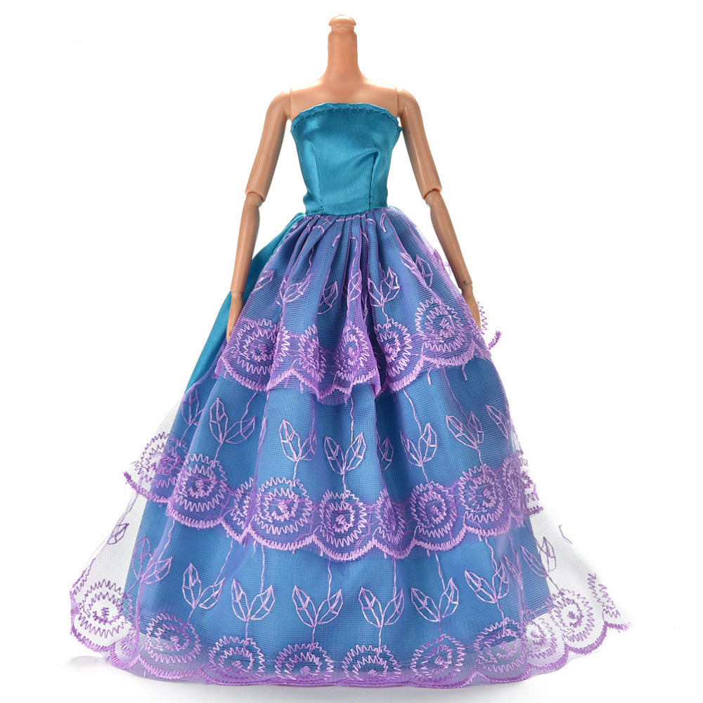 Princess Wedding Dress Noble Party Gown For Barbie Doll Fashion Design